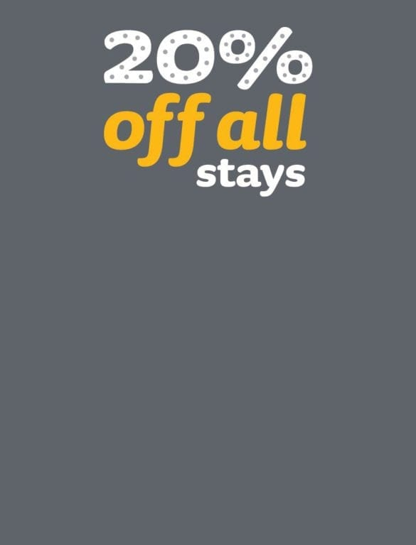 January Offer: 20 percent off all stays